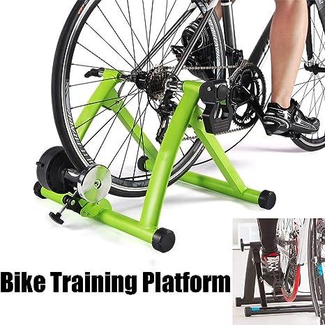 N\A Soporte Portátil para Ciclistas de Interior, Entrenador de Bicicleta estática de Interior, para Entrenamiento en casa Rodillo de Ciclismo de Resistencia magnética de 6 velocidades (Color : A): Amazon.es: Deportes y