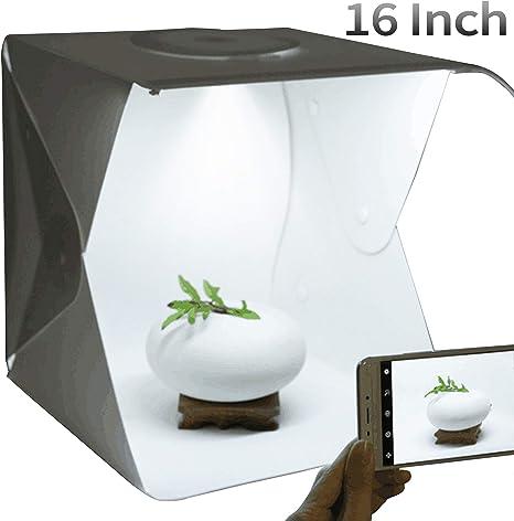 Homelex - Kit portátil de fotografía fotográfica (Caja de luz LED Plegable): Amazon.es: Electrónica