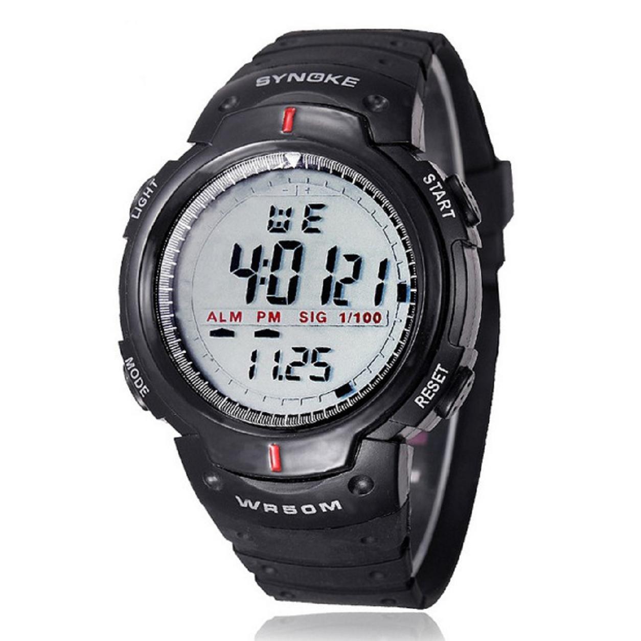 Malloom® Hombres digital Reloj LED deportes cuarzo alarma fecha reloj de pulsera (gris): Amazon.es: Deportes y aire libre