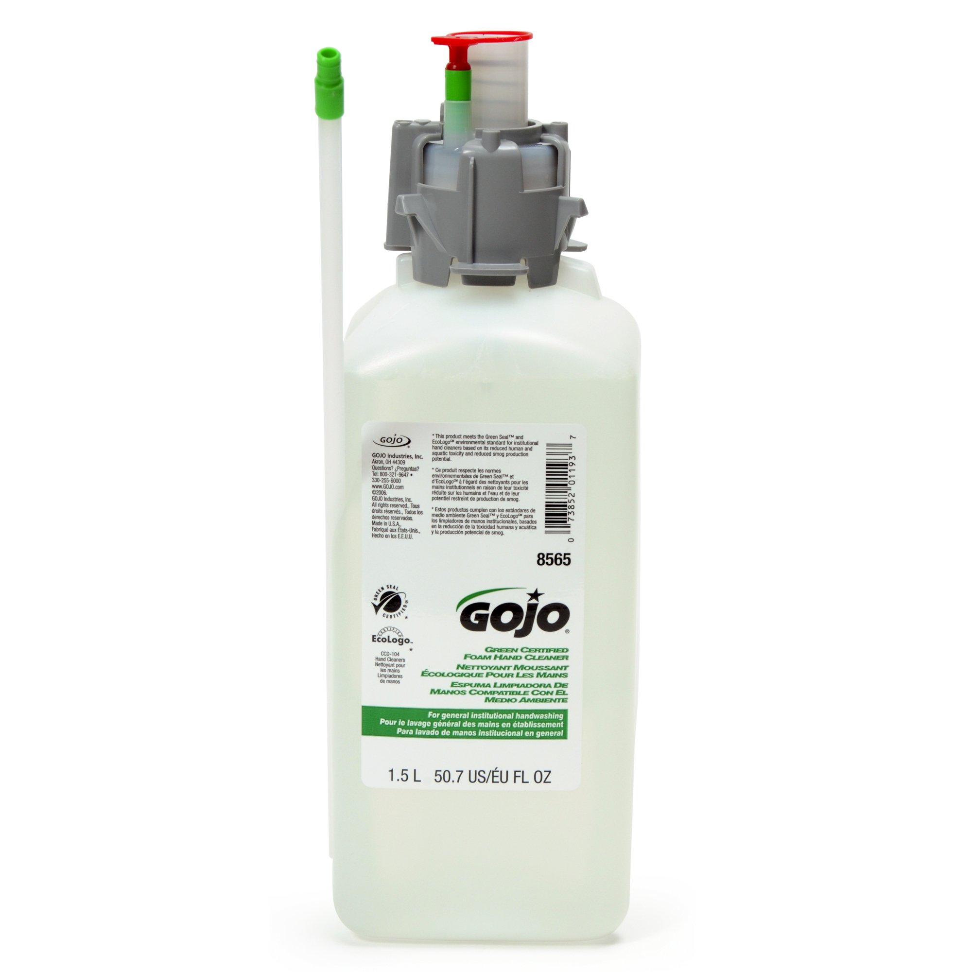 GOJO 856502CT CX & CXI Green Certified Foam Hand Cleaner, Unscented Foam, 1500mL Refill (Case of 2)