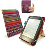 Tuff-Luv Embrace Plus Textiltasche Hülle für Amazon Kindle Touch / Paperwhite mit (Sleep-Funktion) / Sony Kobo - navajo