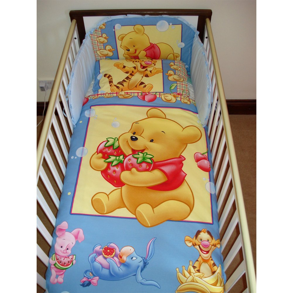 Disney Winnie the Pooh with Strawberries Bedding Set for Cot or Cotbed Cotbed - 140 x 70cm