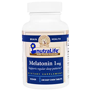 Nutralife Kosher Melatonin 1mg - 240 Easy Chew Tablets