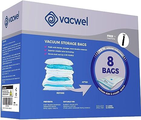 Amazon.com: Vacwel Bolsas de almacenamiento al vacío para ...