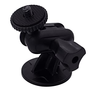 "iSaddle CH01C 1/4""-20 Thread Camera Mini 3M Double-Sided Adhesive Mount Tripod Holder Universal On Dash Cam Mount Holder"