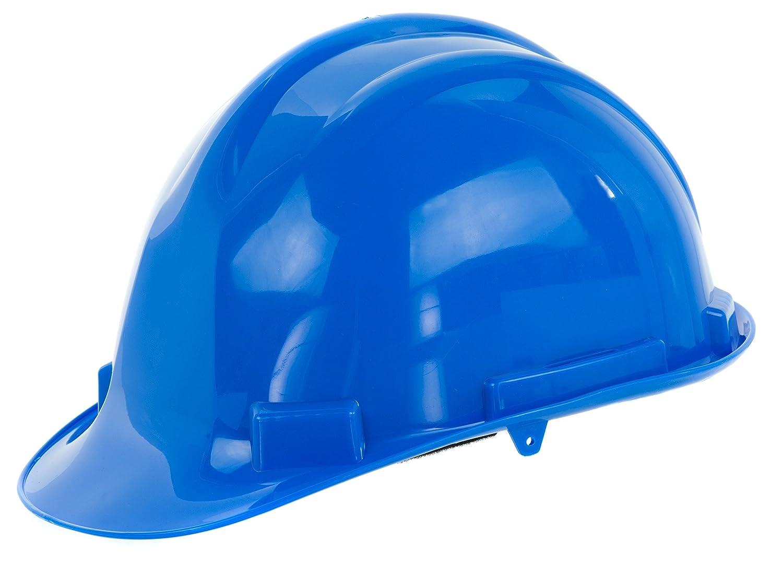 Reis Arbeitsschutzhelm EN397 | Schutzhelm ideal fü r Industrie oder Handwerk | Bauarbeiterhelm aus widerstandsfä higem PP | Arbeitshelm mit 4-Punkt-Aufhä ngung | Helm Farbe: gelb