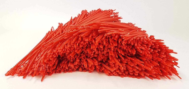 Rosso 180 mm Fascette per cablaggio PC24 Shop /& Service Qualit/à Superiore 200pz Stringicavo riutilizzabile
