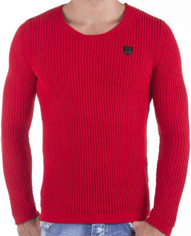 Red Bridge Men of the Year Jumper Sweater Grey Marl