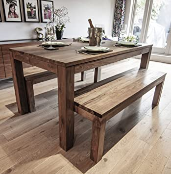 Ombak Furniture Karang reclaimed wood dining table benches ...