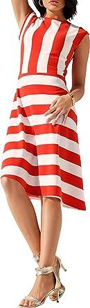Apricciani markowa sukienka z dżerseju czerwona ecru rozm. 44 0919508891 - etui 44: Odzież