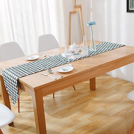 Tapetes para la mesa camino de mesa lino y algodón negro y blanco ...