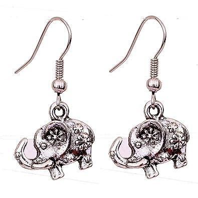 YAZILIND Tibetan Silver Plated Carve Butterfly Bead Hook Drop Dangle Earrings for Women DbkGR1HI5