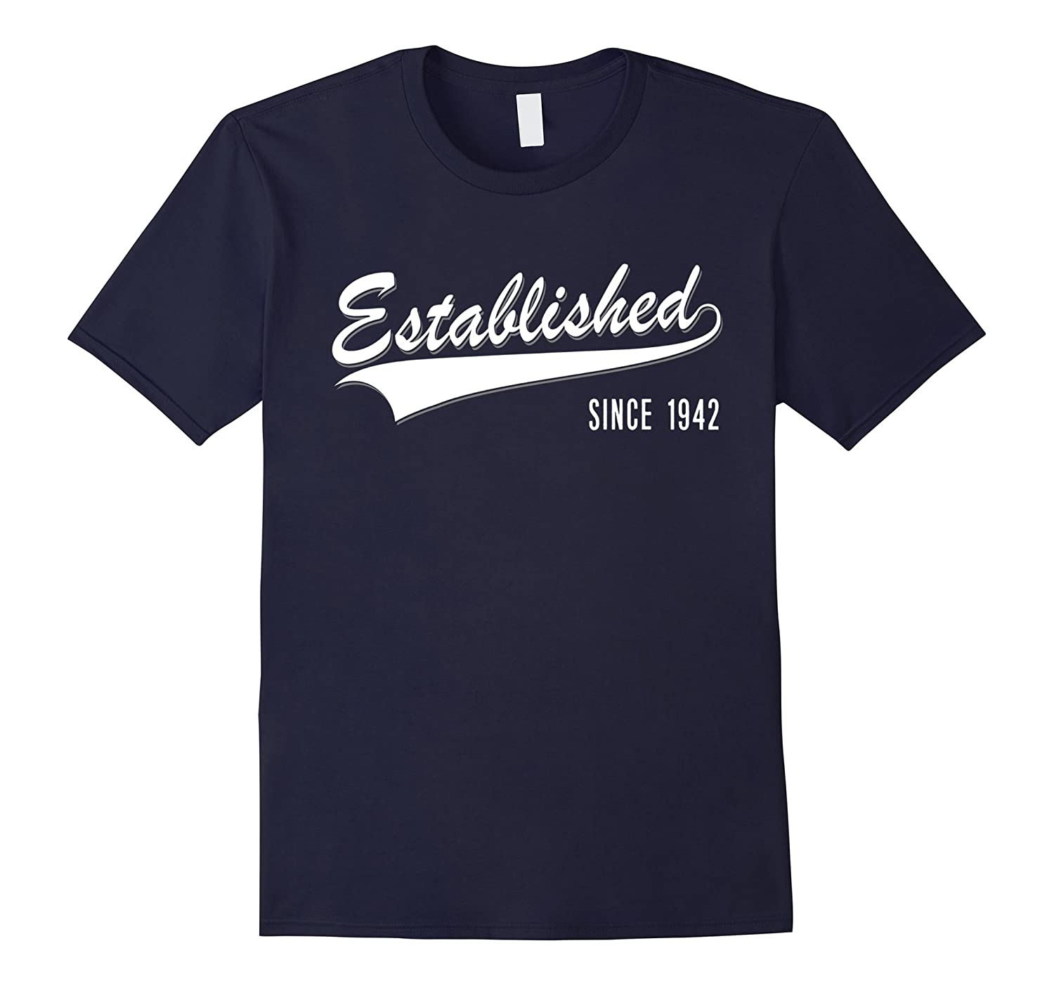 75th Birthday gift shirt Established since 1942 75 year old-PL