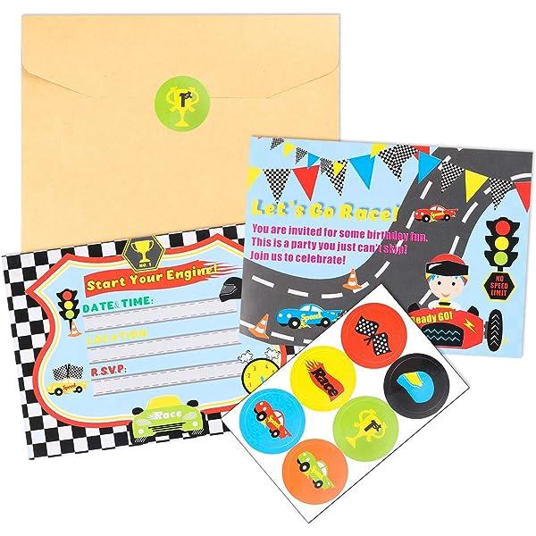 Amazon.com: Tarjetas de invitación para cumpleaños (10 ...