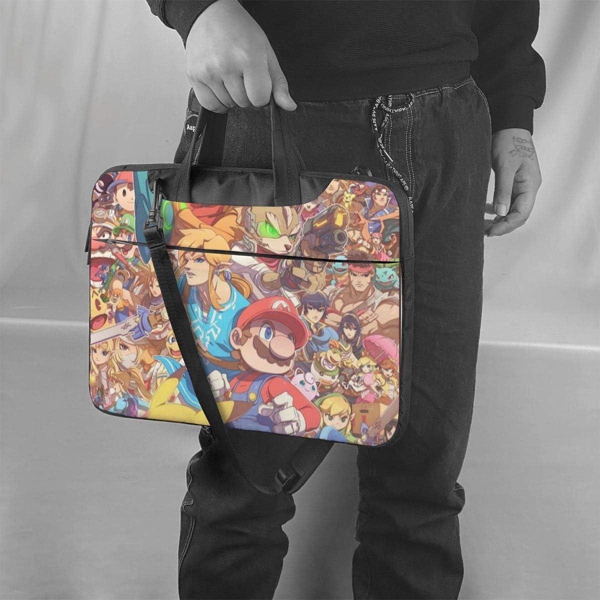 Super Mario The Legend of Zelda Kirby Laptop Sleeve Case Handheld One Shoulder Shockproof Oxford Protective Case//Notebook Computer Pocket Case//Tablet Briefcase Carrying Bag Compatible-14 inch