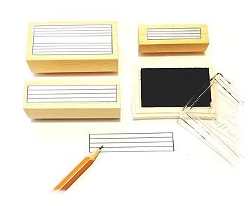 Música Pentagrama de goma sello caja de regalo. (3 útil sellos de goma y negro para tampón): Amazon.es: Instrumentos musicales