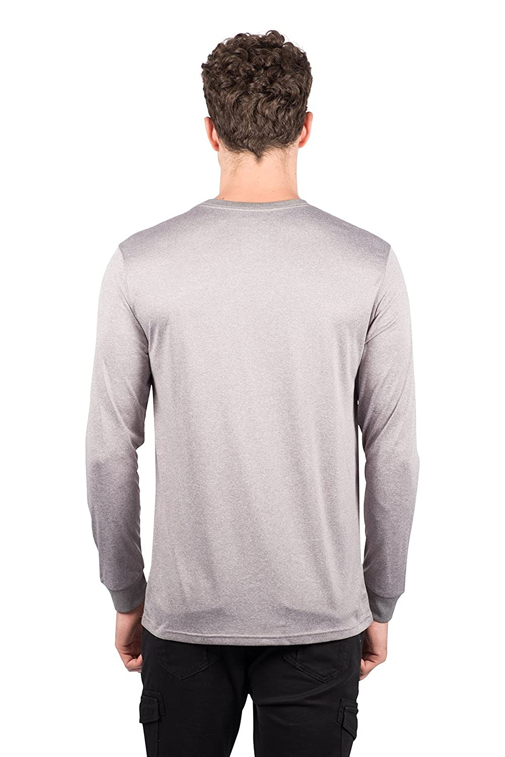 Small Heather Gray NFL Buffalo Bills Ultra Game Mens LS POLY CREW NECK TEE