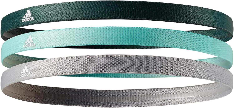 claridad tolerancia Sonrisa  Amazon.com : adidas Sweat Band Sports Headbands with Super Absorbent  Non-Slip Grip (3 Pack), Mint/Dark Green/Grey : Clothing