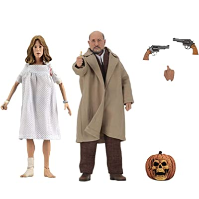 NECA Halloween 2 (1981): Dr Loomis & Laurie Strode 8 Inch Clothed Action Figure 2Pack: Toys & Games