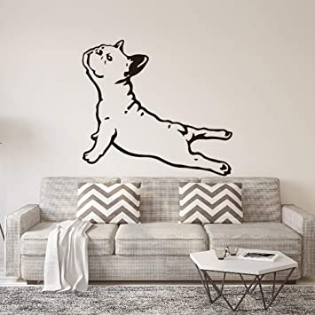 JAXA Bulldog Francés Perro de la Yoga Etiqueta de La Pared ...