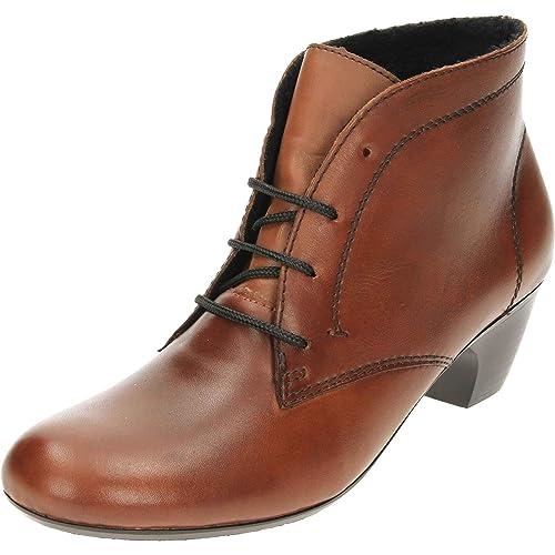 890c4cd436 Rieker Women s 70510-22 Leather Boots Lace Heeled  Amazon.co.uk ...