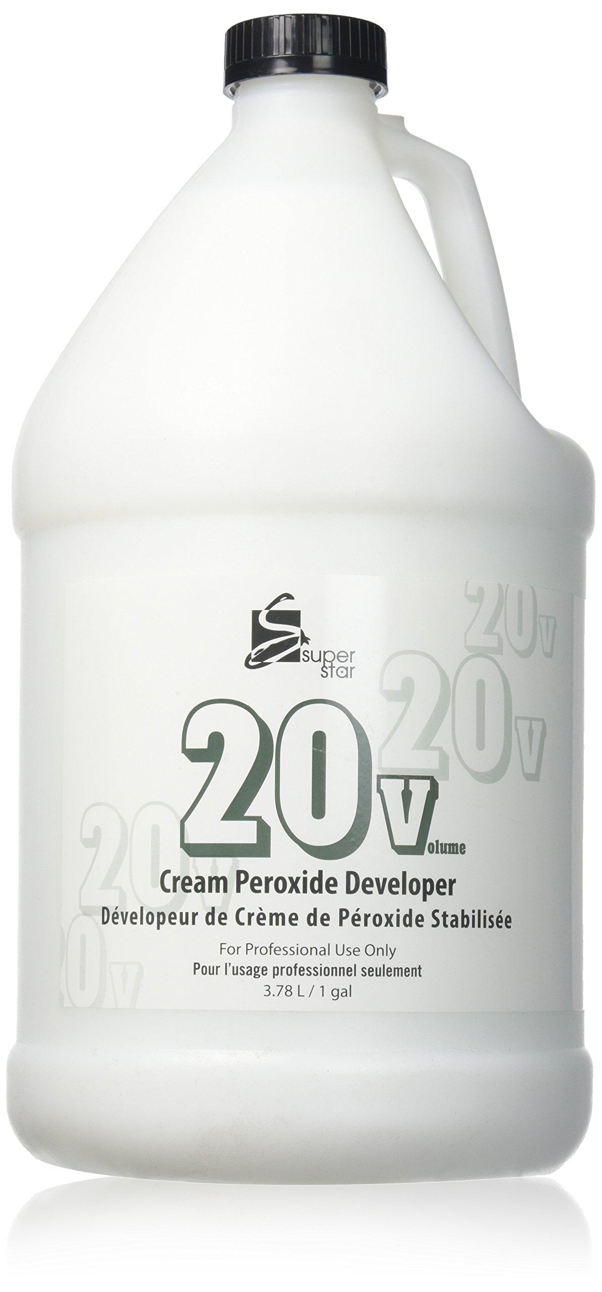 Super Star Stabilized Cream Peroxide Developer, 20v, 3.8 L / 1 Gallon (1-Count) by Superstar
