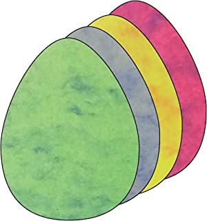 """product image for 5.5"""" Egg Marble Assorted Color Creative Cut-Outs, 31 Cut-Outs in a Pack for Spring, Easter, Holiday Decorations, Learning Games, Classroom Kids' School Craft Projects"""
