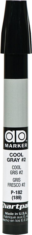 The Original Chartpak AD Marker, Tri-Nib, Cool Gray 2, 1 Each (P182)