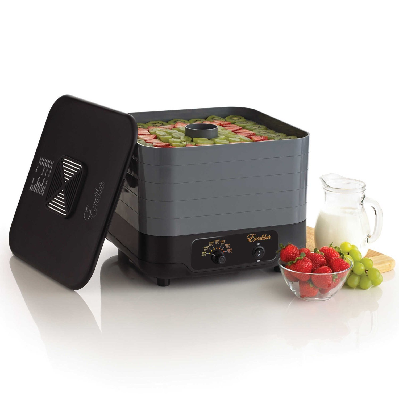 Excalibur ECB50B 5 Tray Stackable Food Dehydrator Beef Jerky Machine Snack Fruit Dryer Vegetable by Excalibur