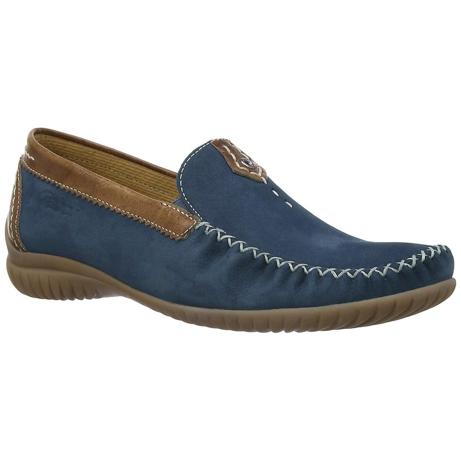 Gabor Womens California 86.090.46 Navy Copper Nubuck Shoes 8.5 US