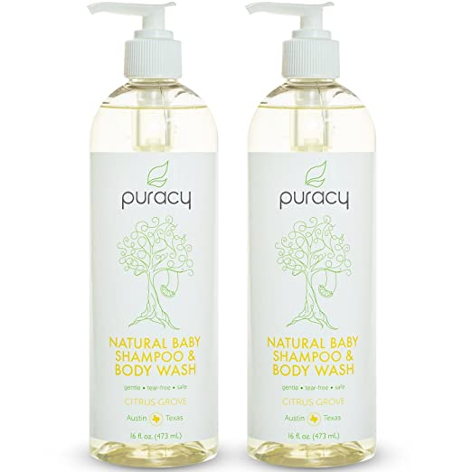 Puracy Natural Baby Shampoo and Body Wash