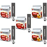 Tassimo Coffee Kenco Bundle - Kenco Americano Smooth/Americano Grande/Pure Colombian pods - Pack of 5 (80 Servings)