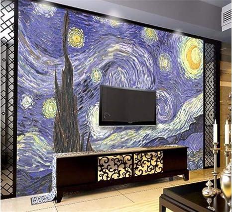 Weaeo 3D Van Gogh Papel Pintado Mural Pintado A Mano Pintura Al ...