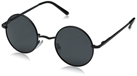vintage black frame. Aoron Vintage Round Sunglasses With Polarized Lenses For Retro Women And Men (Black Frame, Black Frame G