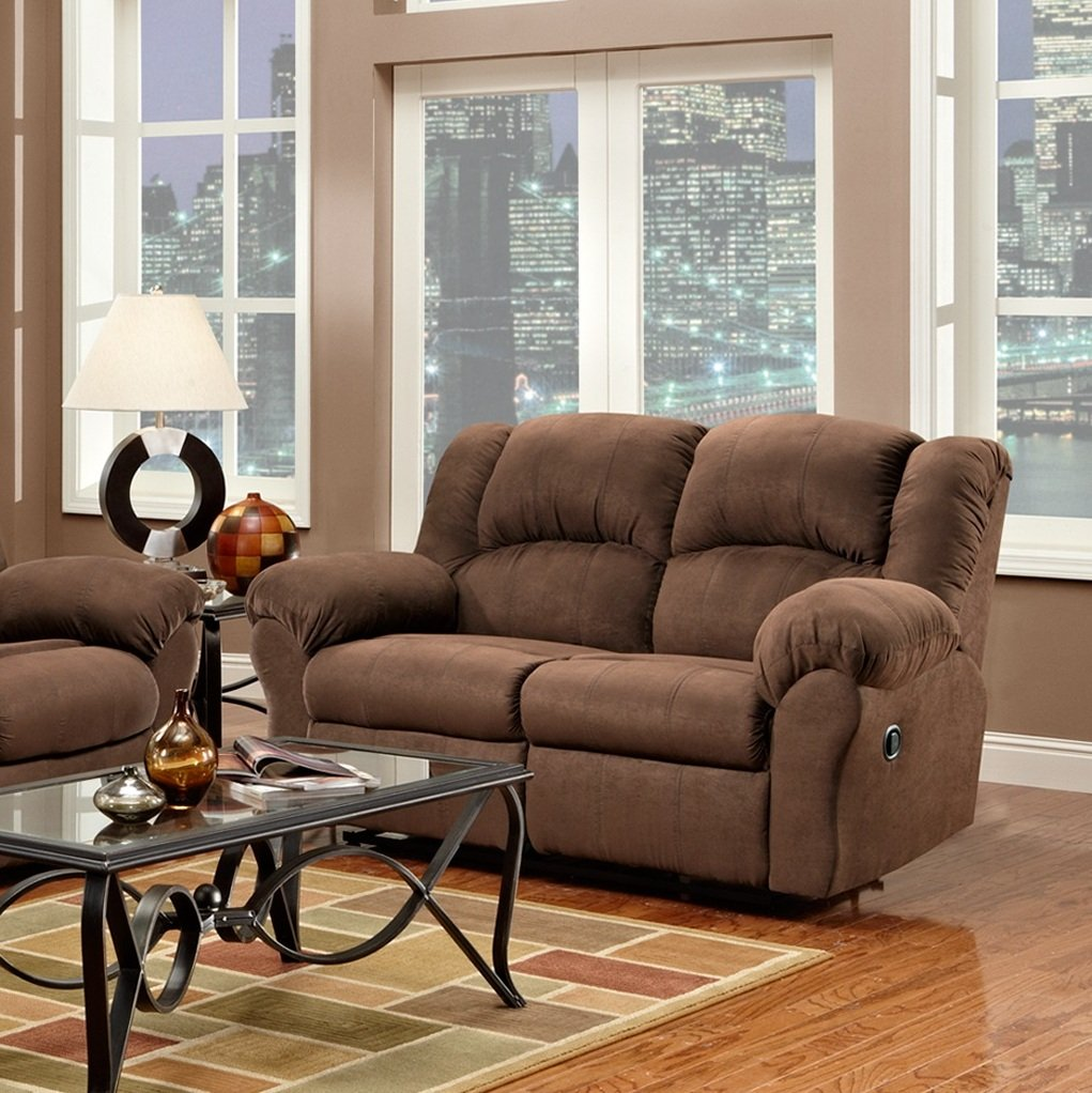 Great Amazon.com: Roundhill Furniture Aruba Microfiber Dual Reclining Loveseat,  Chocolate: Kitchen U0026 Dining