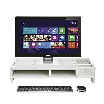 ... de Sobremesa Resistente al Agua para PC Monitor con Organizador de Escritorio 2 Niveles de Plataforma Elevadora para Pantalla LCD Ordenador Portátil ...