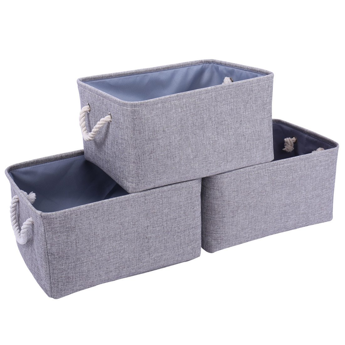 TheWarmHome Storage Bins Baskets for Shelves|Fabric Storage Bins for Cloth Storage [3-Pack] Bathroom Storage Baskets for Closet Storage,Toy Basket for Gifts HS3GE