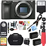 Sony a6500 4K Mirrorless Digital Camera Body with APS-C Sensor ILCE-6500 + 64GB SDXC Memory Card + Dual Battery Kit + Complete Micro 4/3rd Accessory Bundle