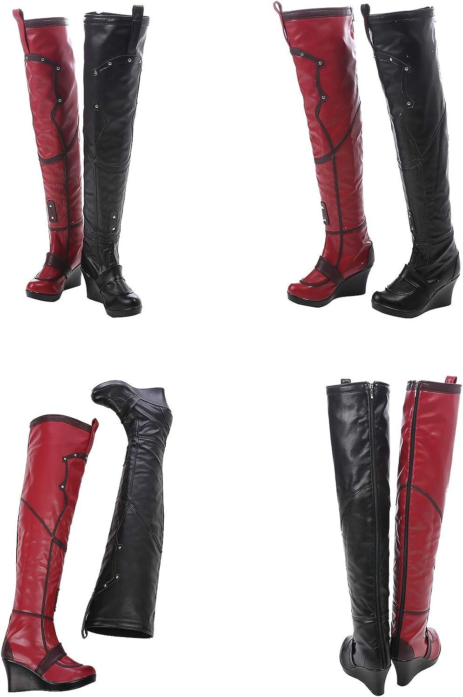 QWEASZER Disfraz de Batman Harley Quinn Disfraz de Mujer Body ...