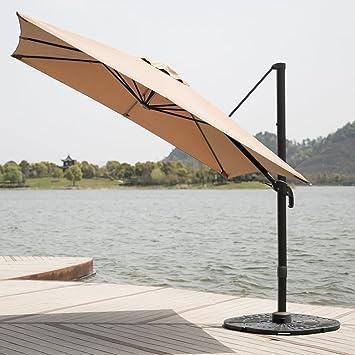 C Hopetree 8u00276u0026quot; Deluxe Square Offset Cantilever Outdoor Patio Umbrella,  360