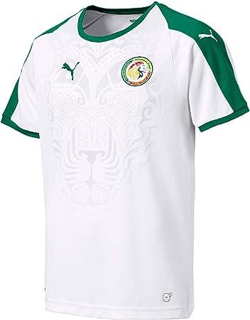Puma Fútbol Senegal Home Camiseta 2018 2019 Camiseta Infantil Color Blanco Verde, 128: Amazon.es: Deportes y aire libre