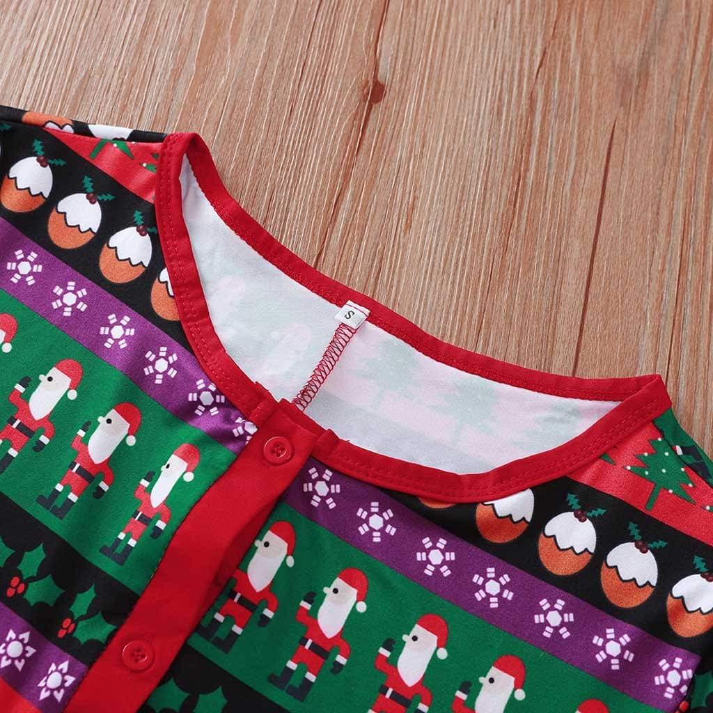 Matching Family Footed Pajamas Hoodie Sleeper Christmas PJs Festival Warm Onesie