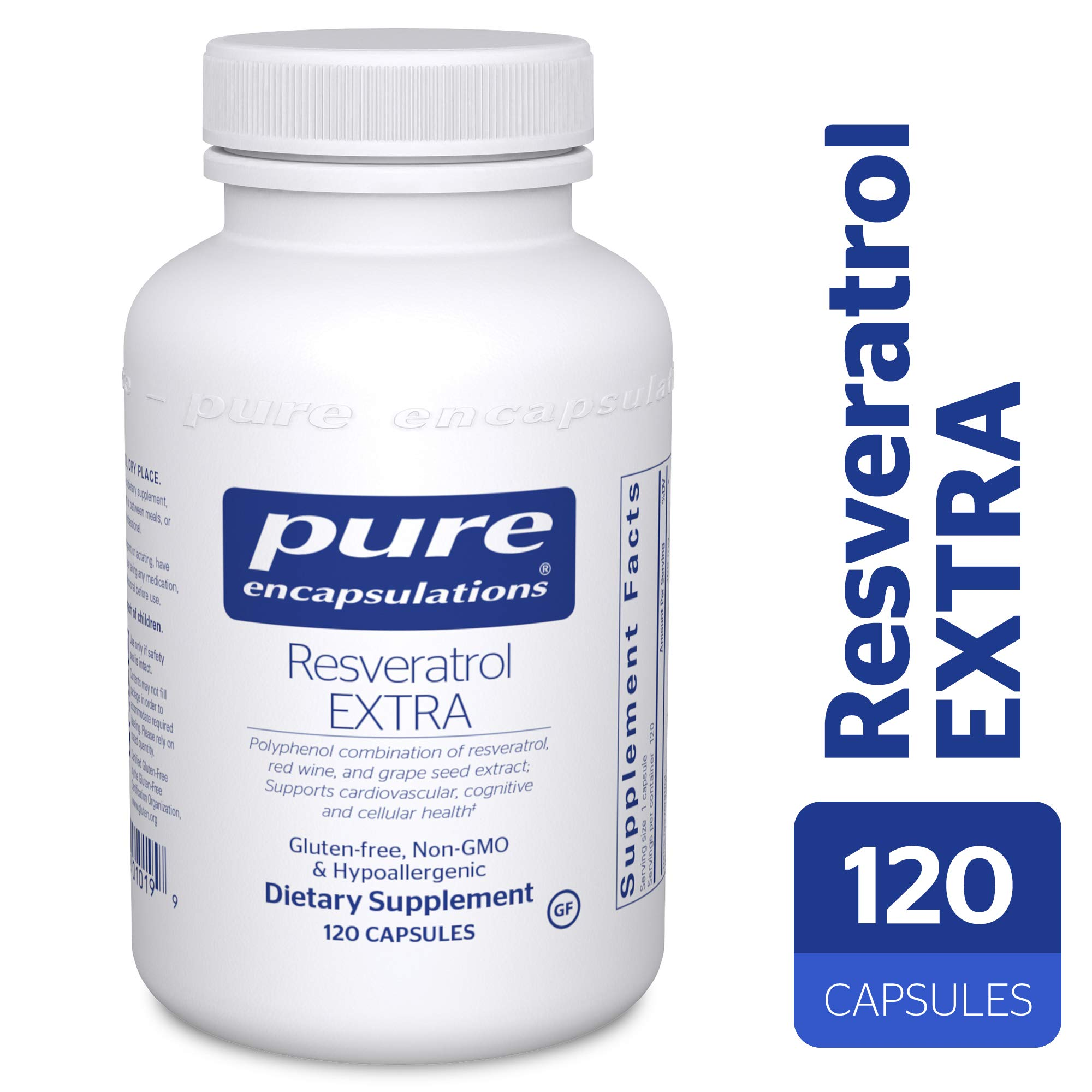 Pure Encapsulations - Resveratrol Extra - Hypoallergenic Dietary Supplement for Healthy Cellular and Cardiovascular Function* - 120 Capsules by Pure Encapsulations