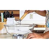 Danish Dough Whisk Stainless Steel Dutch Style Bread Dough Hand Mixer Wooden Handle Kitchen Baking Tools Artisian Blender-Perfect Baking