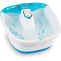 HoMedics Bubble Mate Foot Spa, Toe-touch control, Heat maintenance helps maintain warm water temperature, Removable…