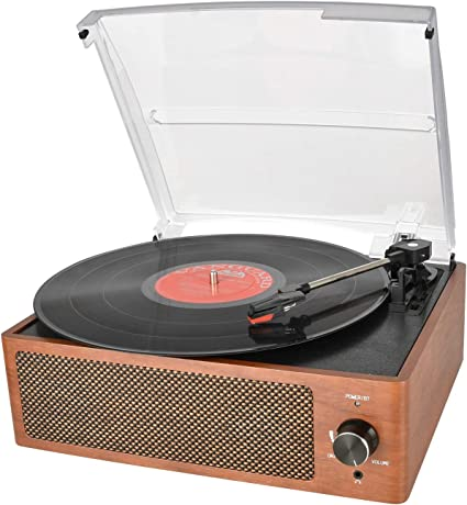 Amazon.com: Reproductor de música con Bluetooth, tocadiscos ...