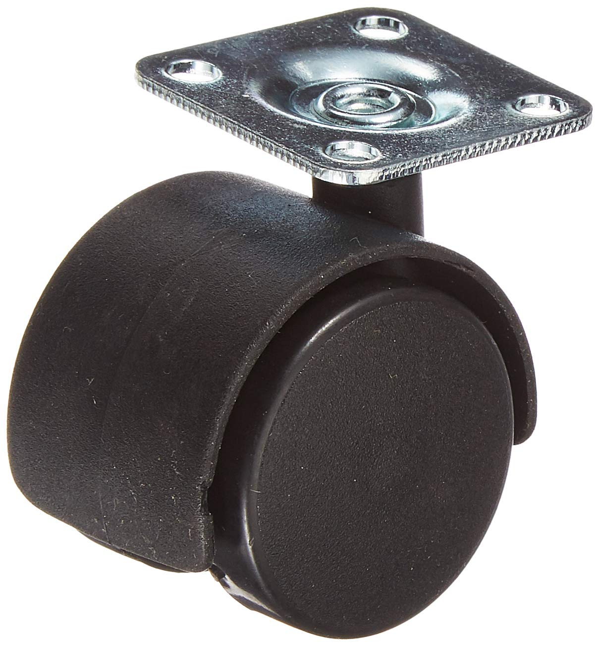 Pack of 4 Twin wheel furniture castors with fixing plate