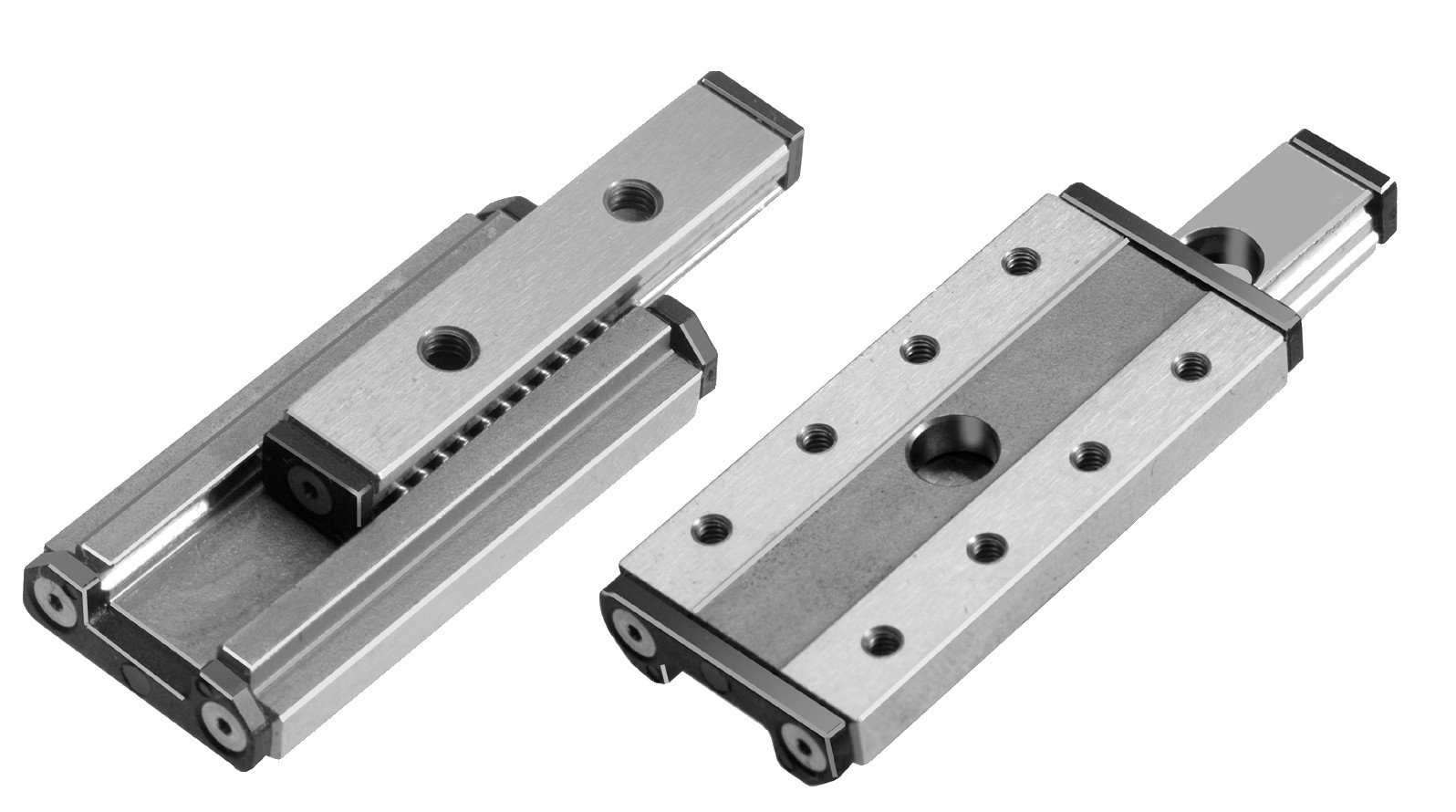 Miniature slide unit, rail width 15mm overall length 56mm travel 50mm