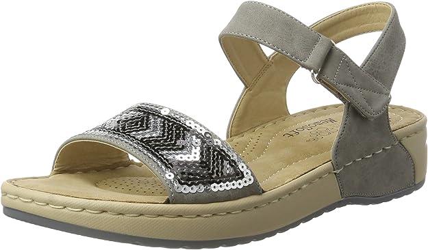 Rieker Damen V5778 Offene Sandalen mit Keilabsatz: ktCQd