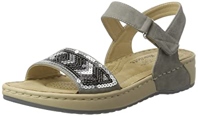 Chaussures à bout ouvert Rieker grises femme Smgkuj1d